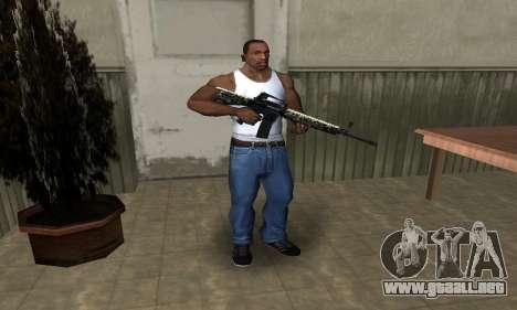 Military M4 para GTA San Andreas tercera pantalla