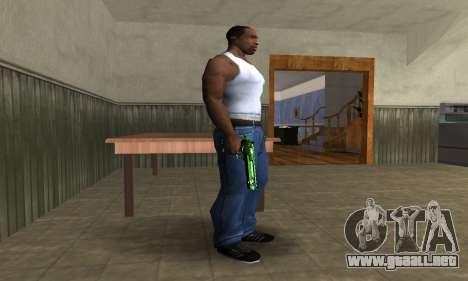 Green Clayn Deagle para GTA San Andreas segunda pantalla