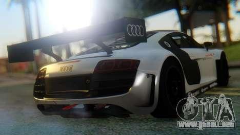Audi R8 LMS para GTA San Andreas vista posterior izquierda