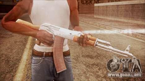 AK-47 v7 from Battlefield Hardline para GTA San Andreas tercera pantalla
