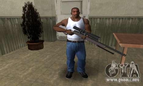 Sniper Rifle para GTA San Andreas tercera pantalla
