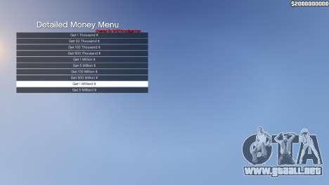 GTA 5 Detailed Money Menu tercera captura de pantalla
