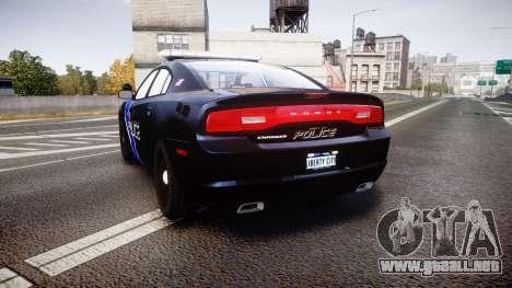 Dodge Charger 2014 LCPD [ELS] para GTA 4 Vista posterior izquierda