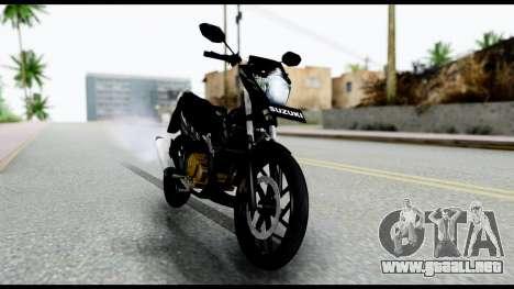 Satria FU Dark Fighter Predator para GTA San Andreas vista posterior izquierda