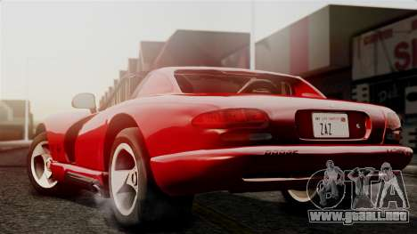 Dodge Viper RT 10 1992 para GTA San Andreas left
