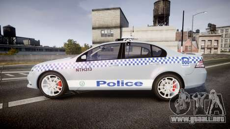 Ford Falcon FG XR6 Turbo Police [ELS] para GTA 4 left