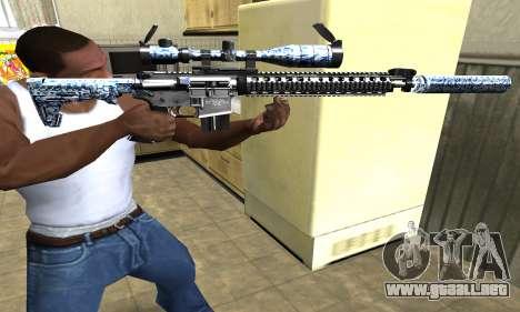 Blue Snow Sniper Rifle para GTA San Andreas segunda pantalla