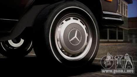 Mercedes-Benz 300 SEL 6.3 para GTA San Andreas vista posterior izquierda