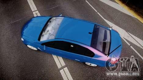 Holden VF Commodore SS Unmarked Police [ELS] para GTA 4 visión correcta