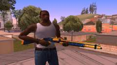 Shotgun BlueYellow para GTA San Andreas