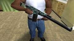 Blue M4 para GTA San Andreas