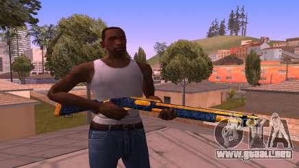 Shotgun BlueYellow para GTA San Andreas