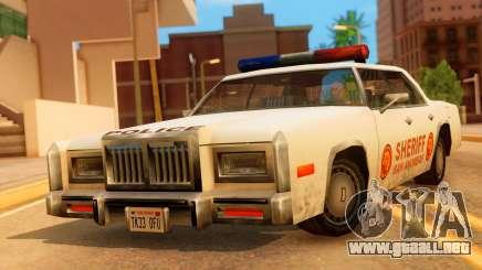4-door Police Esperanto para GTA San Andreas