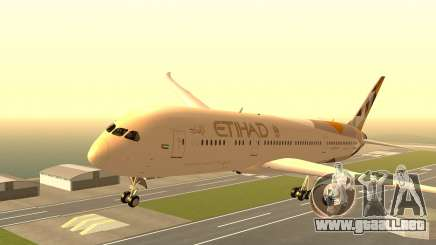 Boeing 787-9 Etihad Airways para GTA San Andreas
