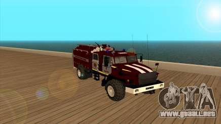 Ural 5557-40 el Ministerio de situaciones de emergencia de Ucrania para GTA San Andreas