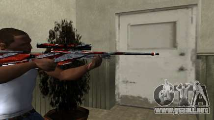 Red Flag Sniper Rifle para GTA San Andreas