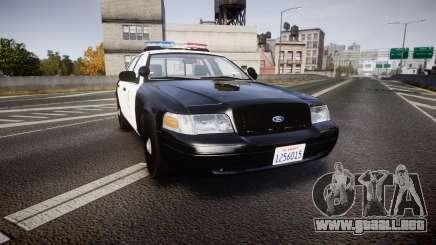Ford Crown Victoria 2011 LAPD [ELS] rims2 para GTA 4
