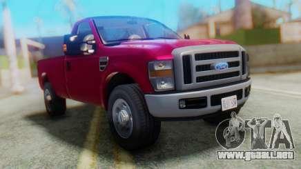 Ford F-350 Super Duty Regular Cab 2008 FIV АПП para GTA San Andreas