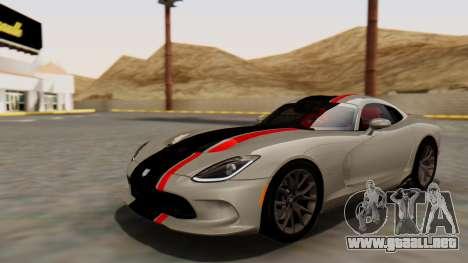 Dodge Viper SRT GTS 2013 HQLM (MQ PJ) para vista lateral GTA San Andreas