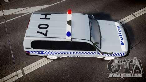 Toyota Land Cruiser 100 2005 Police [ELS] para GTA 4 visión correcta
