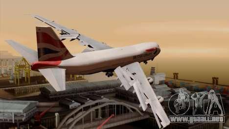 Boeing 747 British para GTA San Andreas left