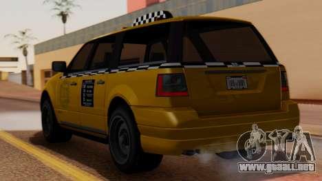 Landstalker Taxi SR 4 Style para GTA San Andreas left