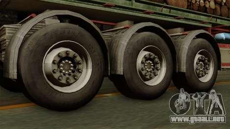 Trailer Cargos ETS2 New v2 para GTA San Andreas vista posterior izquierda