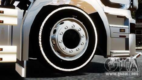 Scania R580 para GTA 4 Vista posterior izquierda