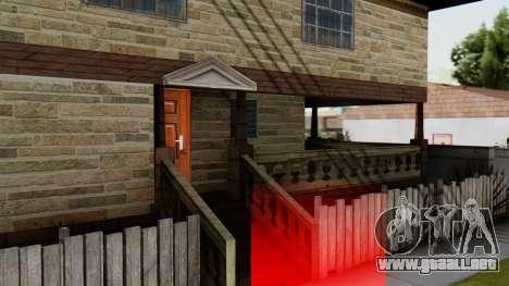 El nuevo interior de la casa de CJ para GTA San Andreas sucesivamente de pantalla