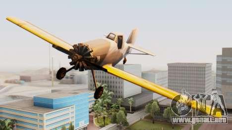Cropduster Remake para GTA San Andreas vista posterior izquierda
