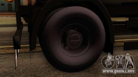 GTA 5 Fieldmaster Wood Trailer para GTA San Andreas vista posterior izquierda