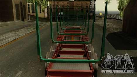 Trailer Cargos ETS2 New v1 para GTA San Andreas vista hacia atrás