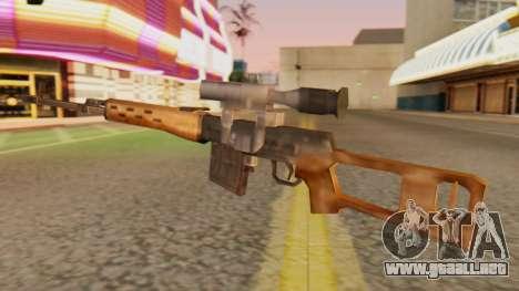 SVD SA de Estilo para GTA San Andreas segunda pantalla