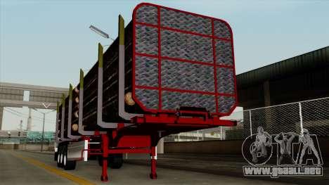 Trailer Fliegl v2 para GTA San Andreas vista hacia atrás