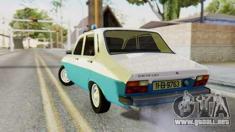 Dacia 1310 Militia para GTA San Andreas left