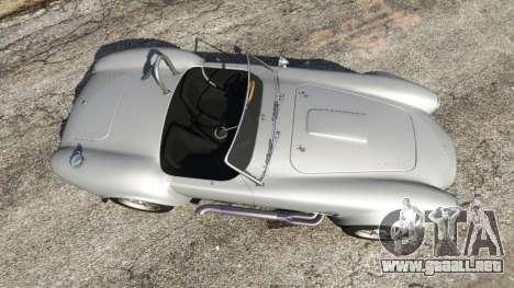 GTA 5 AC Cobra [Beta] vista lateral izquierda trasera