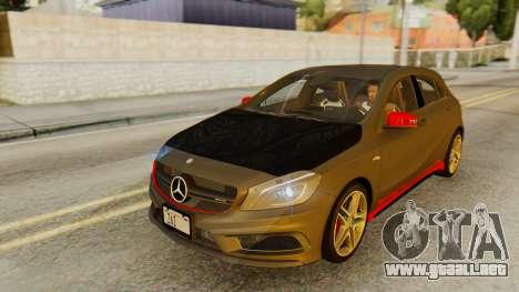 Mercedes-Benz A45 AMG 2012 PJ para vista inferior GTA San Andreas