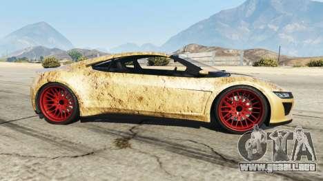 GTA 5 Dinka Jester (Racecar) Dirt vista lateral izquierda