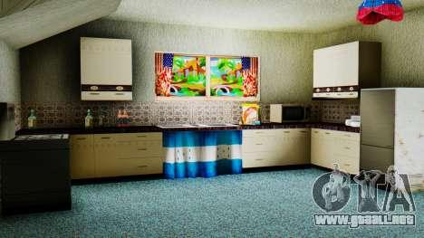 Stern Design House CJ para GTA San Andreas sucesivamente de pantalla