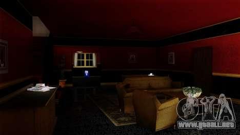Retextured CJ la casa en el estilo de Scarface para GTA San Andreas segunda pantalla