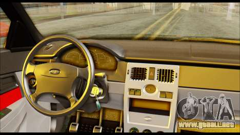 Lada Priora Porsche Customs para GTA San Andreas vista posterior izquierda