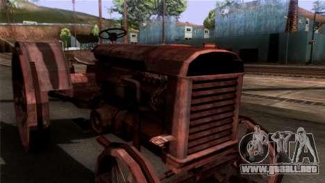 GTA 5 Rusty Tractor para GTA San Andreas vista posterior izquierda