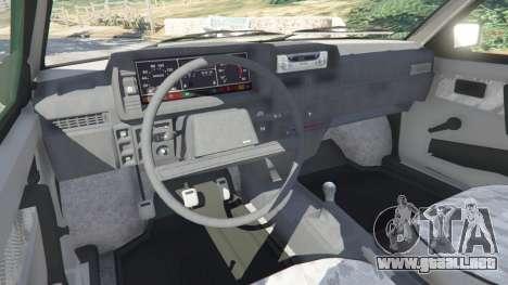 GTA 5 VAZ-21093i vista lateral trasera derecha