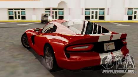 Dodge Viper SRT GTS 2013 HQLM (MQ PJ) para GTA San Andreas left