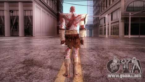God Of War 3 Kratos Blood para GTA San Andreas tercera pantalla