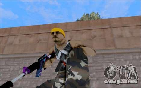 M4A1 Color para GTA San Andreas tercera pantalla