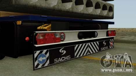 Flatbed3 Blue para la visión correcta GTA San Andreas