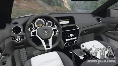 Mercedes-Benz C63 AMG 2012 para GTA 5