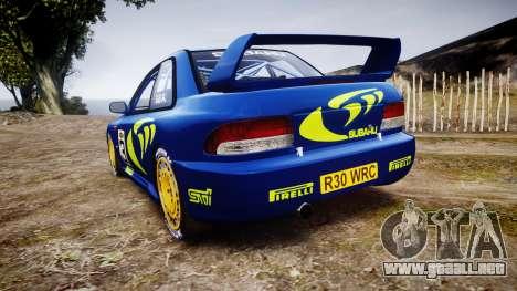Subaru Impreza WRC 1998 World Rally para GTA 4 Vista posterior izquierda