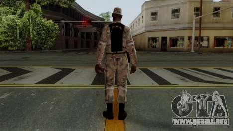 El African American soldier Multicam para GTA San Andreas tercera pantalla